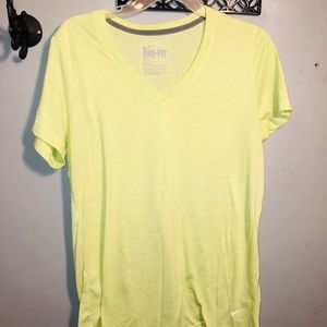 NIKE Dri-fit active wear v-neck tee shirt